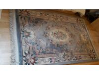 Chinese Oriental Carpet Blue Wool 190cm x 125cm DELIVERY AVAILABLE