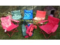 5 x camping chairs