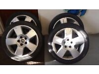 "SKODA SUPERB SET OFF 4 -17"" Inch Alloy Wheels With Tyres 225/45 / ZR17"