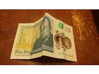5£polymer note