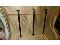 10 no. Flanged Display or Racking Tubing 70.7cm long