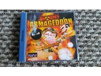 sega dreamcast Worms Armageddon boxed with instructios