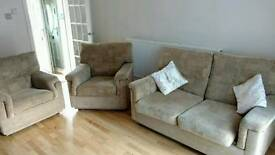 Two armchairs and one sofa bed