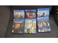Selling 6 PS4 games open to offers
