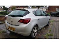 2011 61 plate Vauxhall Astra 1.6 Petrol Manual 5 dr, Silver with low mileage and 12 months MOT