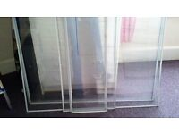 OPEN TO OFFERS 9 Large Sheets Of 3mm Perspex. Ideal For Secondary Glazing. Magnetic Strips Attached.