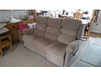 Assisted Living Sofa Electric Riser Recliner Oak Tree Mobility, Disability Setee. Three Seater