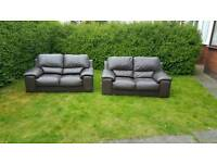 Leather sofa ( free delivery )
