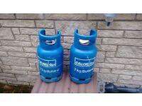 2 Calor Gas 7kg full Butane bottles