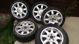 Alloy wheels with good tyres for Audi A4