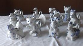 Franklin Mint Ornamental Animal Themed Cream Jugs