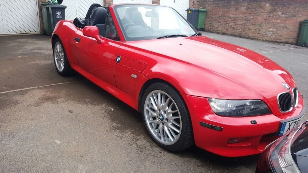 2001 bmw z3 convertible in red only 59k 3 0 roadster in cardiff city centre cardiff. Black Bedroom Furniture Sets. Home Design Ideas
