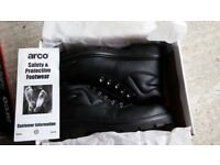 Arco 376 Chukka Safety Boot With Steel Midsole Black BRAND NEW Size 43 UK 9