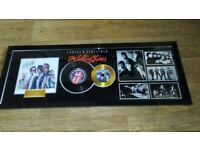 rolling stones framed picture