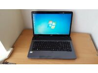 "Acer Laptop 17"" screen Windows7 Office 320GB Hard Drive 3GB RAM WIFI WEBCAM"