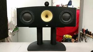 B and W HTM3S Centre Speaker and FS-HTM Stand