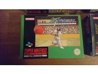 SNES Game Super International Cricket - Super Nintendo - Mint Condition