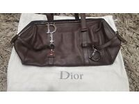 Genuine Brown Leather Dior Hand Bag