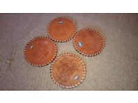 4 x Leather coasters