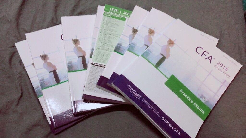 2018 cfa schweser notes & practice exams & quicksheet level 1/2/3 | in City  of London, London | Gumtree