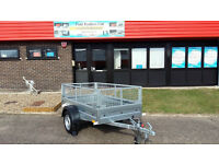 Car Trailer + Mesh Single axle trailer