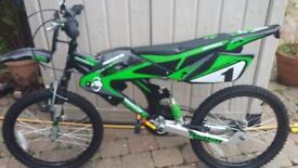 Avigo motorbike style bike. Suitable for aged 9 and over. Used twice.