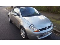 2005 Luxury Ford Streetka convertible, Silver. 86216 miles. Excellent condition inside and out.