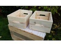 Wooden fruit vegetable wine Crates Retail thick Shelf Box Storage Christmas