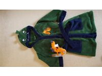 Dressing Gown 2-3yrs with caterpillar toy
