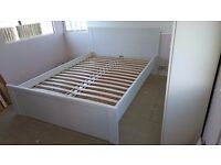 Cool/white double bed, great condition