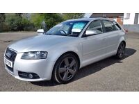 Audi A3 2.0 TDI S Line Sportback S Tronic 5dr - ull Service History. New MOT Included.