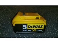 DeWalt battery 5ah