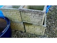 Concrete sandstone large garden pots