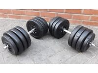 39KG GYMANO DUMBBELL WEIGHTS SET - 2 x 19.5KG