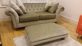 Sofa & footstool RRP was £958! Perfect condition (only 1 year old) and very comfortable.