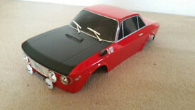 Lancia Fulvia 1600 HF 1/10 Pre Painted RC Body Shell Undrilled For Tamiya or Similar