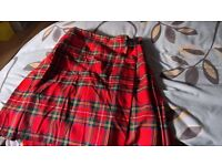 military kilt...size m...excellent condition...100% pure new wool...make-moffats of Scotland..£30