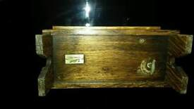 Vintage wooden chest musical jewellery box tallent of boned street