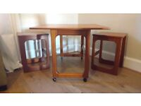 Mid-Century British Triform Nesting Tables by McIntosh (?), 1960s - excellent condition