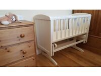 Gliding Crib (hand painted), good condition