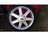 Ford Fiesta 2× 7 spoke 195/45/16 alloys wheels