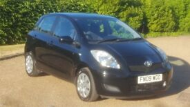 TOYOTA YARIS 1.3 TR 09 PLATE 2009 1P/LADY OWNER 106000 MILES FULL SERVICE HISTORY 6SPEED AC 5DOOR