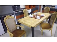 Solid wood dining table & four chairs £175 FREE LOCAL DELIVERY within 5 miles STALYBRIDGE SK15 2PT