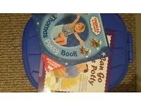 Great potty and 2 potty books.