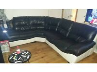 black corner couch/sofa