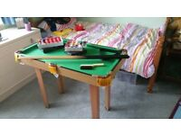 "Small pool/snooker table - 36""x20"" - legs detach for storage or table top use. - excellent condition"
