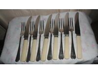 VINTAGE SET OF 6 PHILIP ASHBERRY & SON'S KNIVES & FORK'S