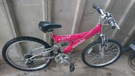 Pink Raleigh 18 speed bicycle £50