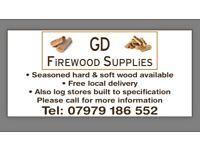 Seasoned split hardwood logs
