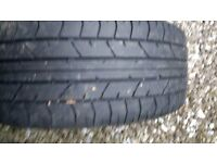 "17"" 5 stud alloy wheel & tyre,used but great condition"